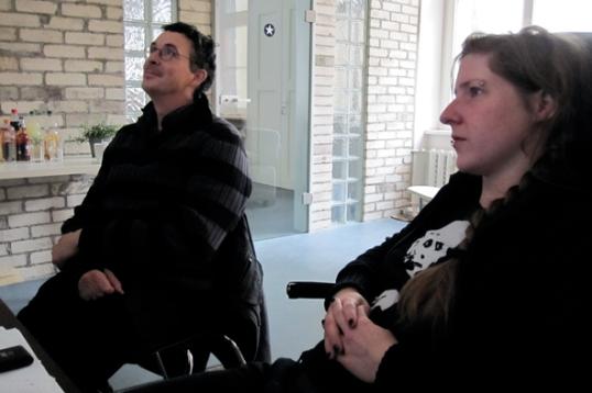 Vanessa und Volker mit viel Freude bei der Arbeit!